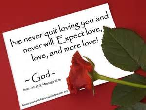 God's love is for always!